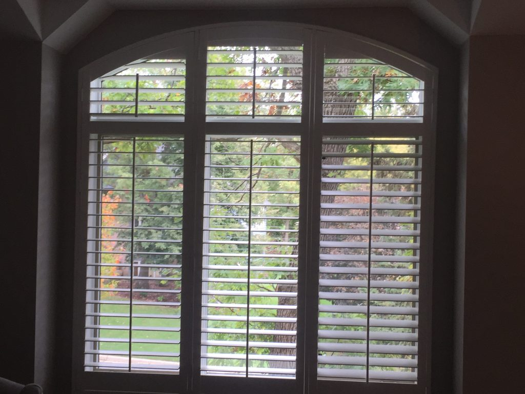 """Graber Arch 3"""" Shutters 5"""" Louvers in Edina"""
